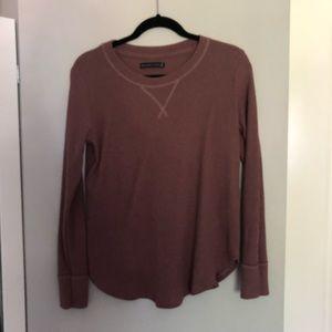 ABERCROMBIE 🌟 dusty pink super soft fleece shirt